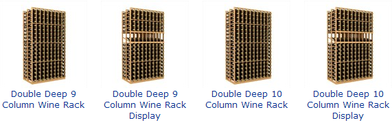 Double Deep Wine Cellar Racks