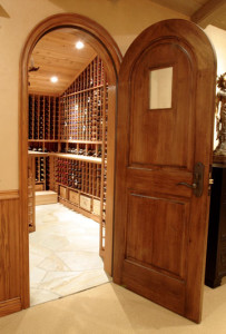 Wood Wine Cellar Door