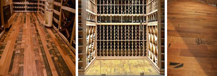 Wood Wine Cellar Flooring