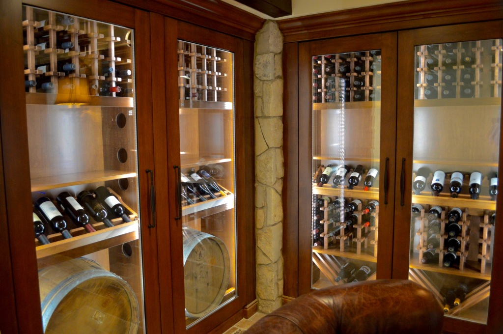 Wine Refrigeration System For California Custom Cabinets