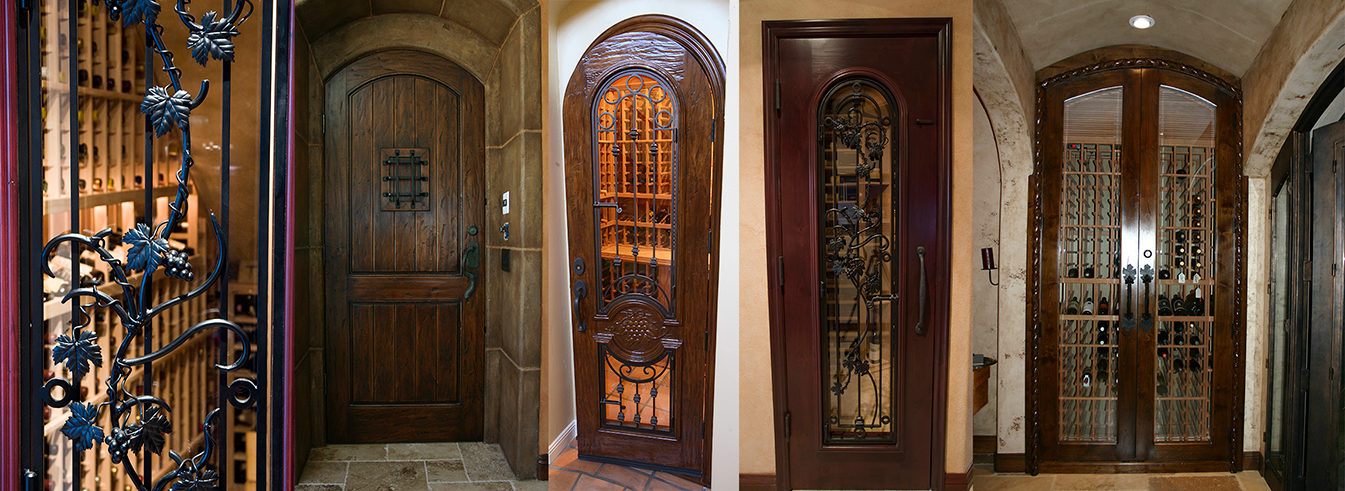 Custom Wine Cellar Doors From Coastal Wine Cellar California